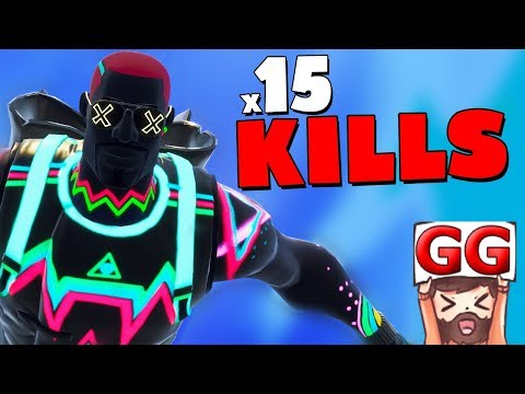 15 KILLS CON LA NUEVA SKIN!! DESTROZANDO EN TILTED TOWERS | FORTNITE BATTLE ROYALE