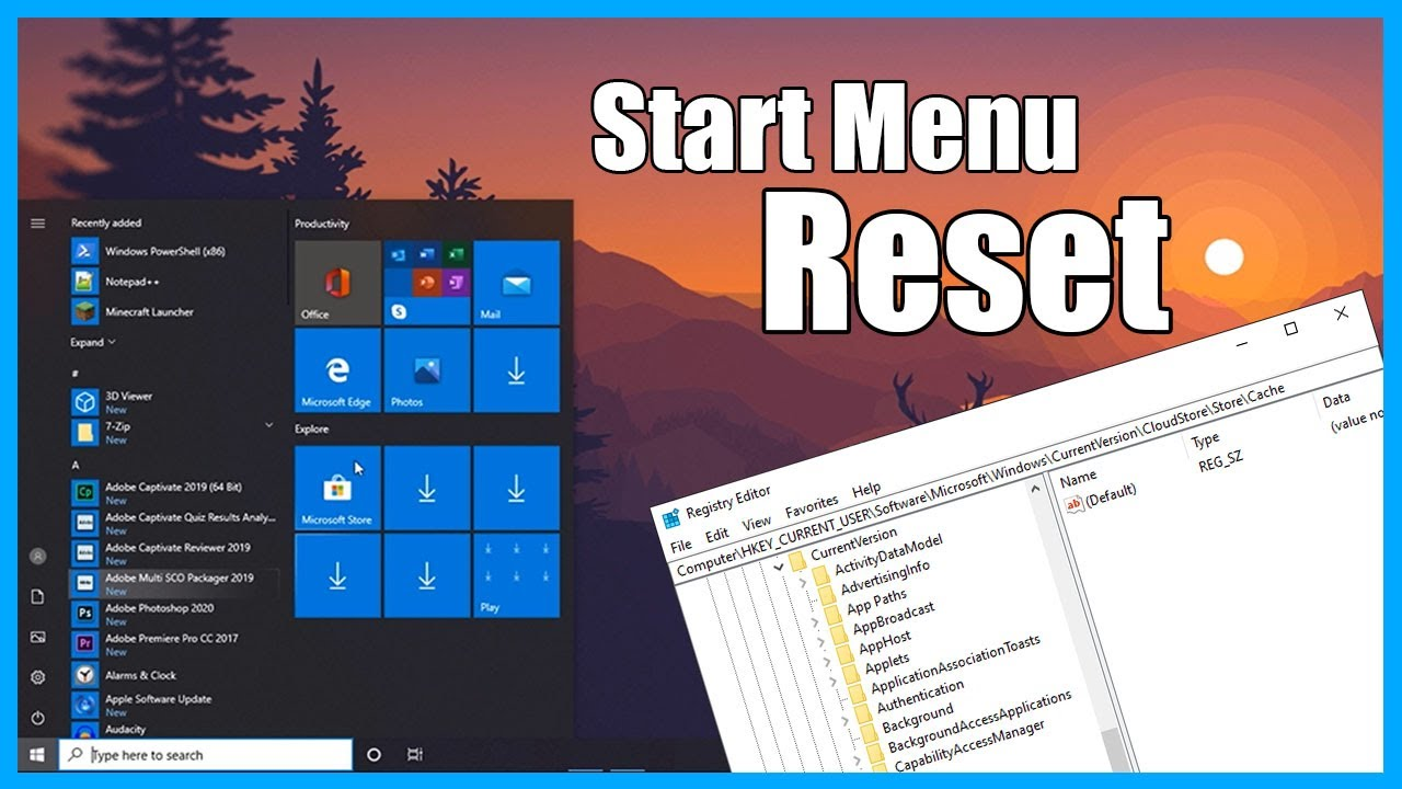 How to Reset Windows 10 Start Menu Layout to Default