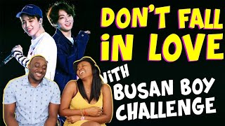 Don't fall in love with BUSAN BOYS (Jimin & Jungkook) Challenge! | REACTION |