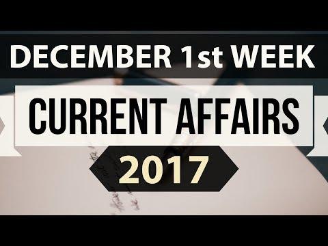 (English) December 2017 current affairs MCQ 1st Week Part 2 - IBPS PO / SSC CGL / UPSC / RBI Grade B