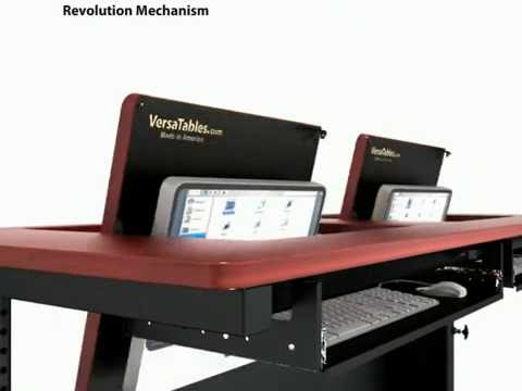 The Revolution Table Hidden Monitor Clroom Desk