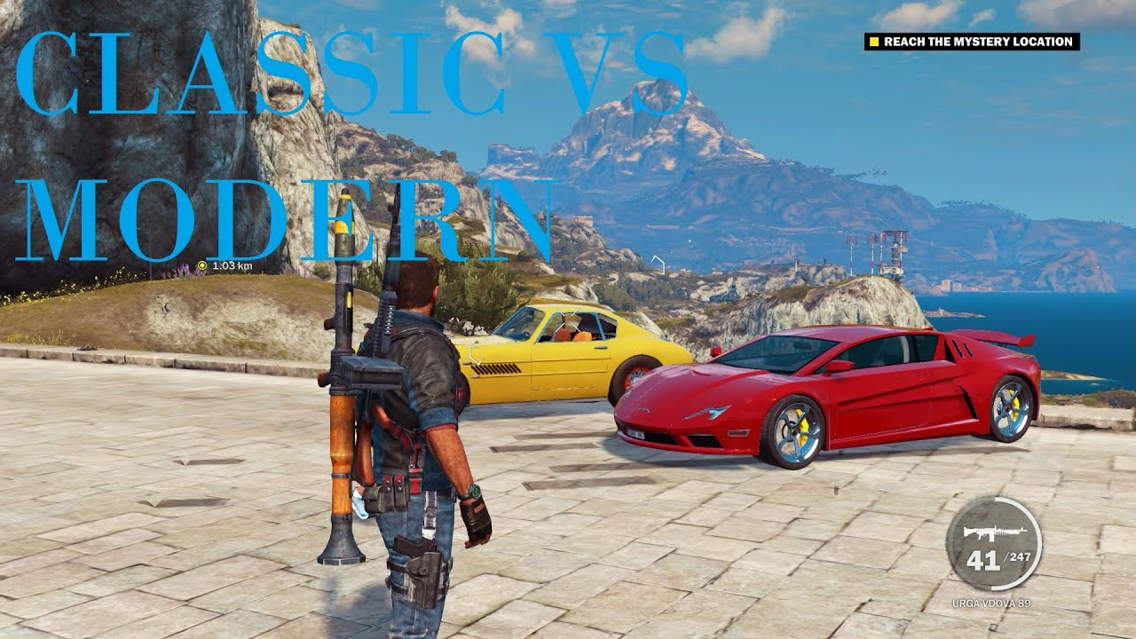 Modern Vs Classic Supercars Just Cause 3 (PC) - YouTube