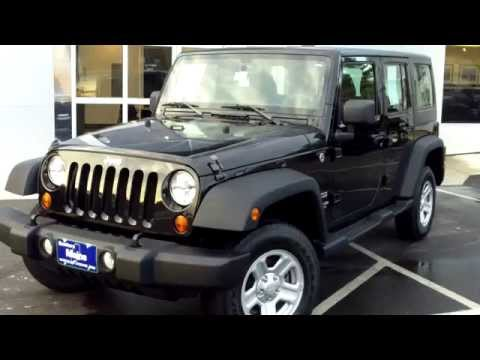 Used 2013 Jeep Wrangler Unlimited Sport 6 Speed Manual 4x4 Saco Maine Portland Me