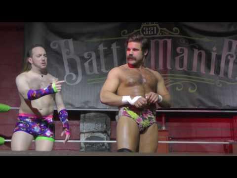 Joey Ryan & Eddie Van Glam vs Hellfire Club - 3-2-1 BATTLE! 'Battlemania 2017' - 04/21/2017