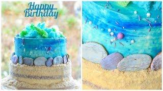 ТОРТ в Морском стиле ☆ Съедобные камни и песок ☆ Морской CandyBar