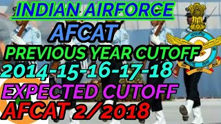 AIRFORCE AFCAT PREVIOUS YEAR CUTOFF