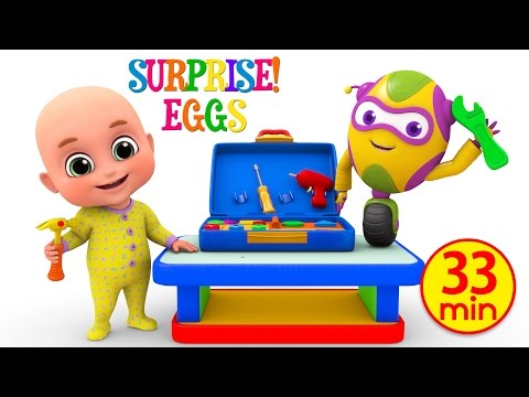 Kids Toys - Tool Kit Toy for children | Unboxing Surprise Eggs from Jugnu Kids