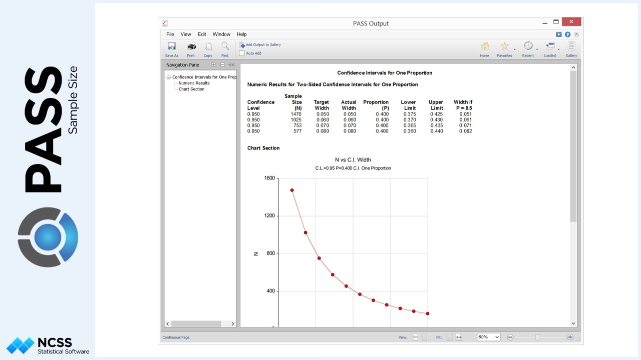 Sample Size Calculation for Confidence Intervals for One ...