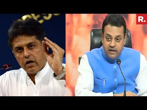 Dr. Sambit Patra reacts to Manish Tewari's tweet