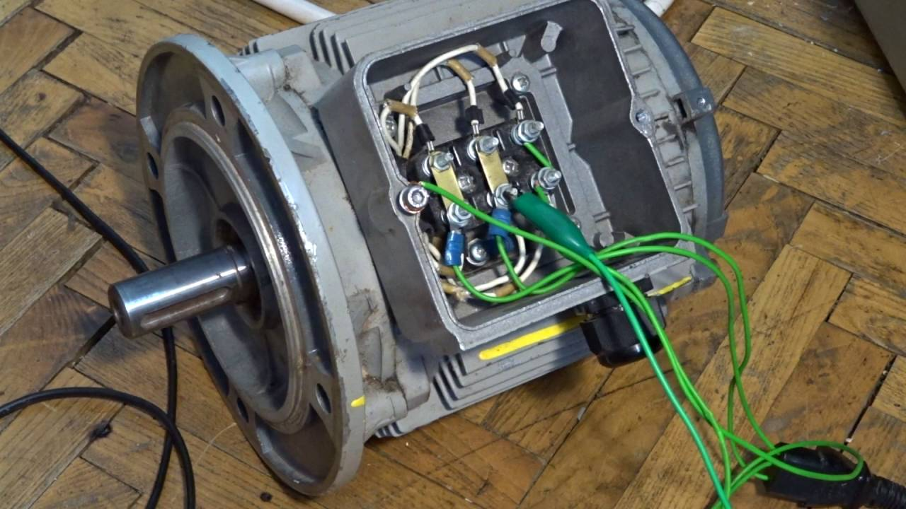How to connect three phase motor to single phase - YouTube