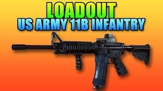 Loadout: US Army 11B Infantry M4, HB, Ergo Grip, Laser (Battlefield 4 Gameplay/Commentary)