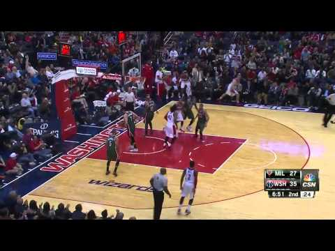 Milwaukee Bucks vs Washington Wizards | November 1, 2014 | NBA 2014-15 Season