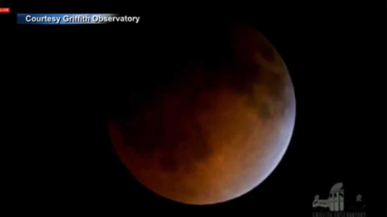 Eclipse en vivo luna de sangre (imagenes desde la nasa ...