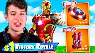 "If I WIN THIS PARTY SBLOCCO the SKIN AVENGERS ""EXCLUSIVE"" on FORTNITE!!"