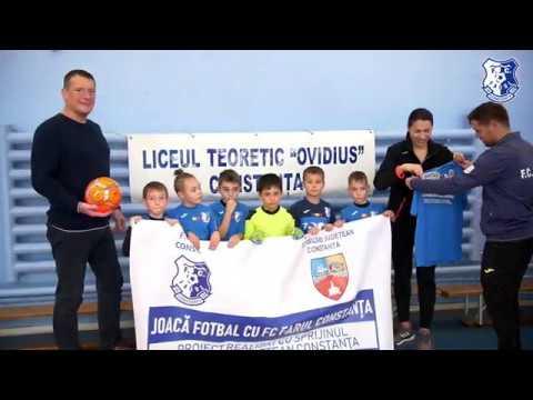 """""""Joacă fotbal cu FC Farul Constanța"""", la Liceul Teoretic Ovidius Constanța"""