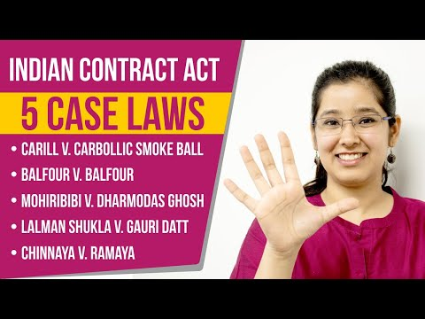 5 Important Cases of Indian Contract Act 1872 | Part 1