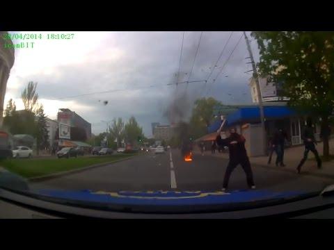 Ukraine War - Russian subversives attack Ukrainian activists in Donetsk Ukraine