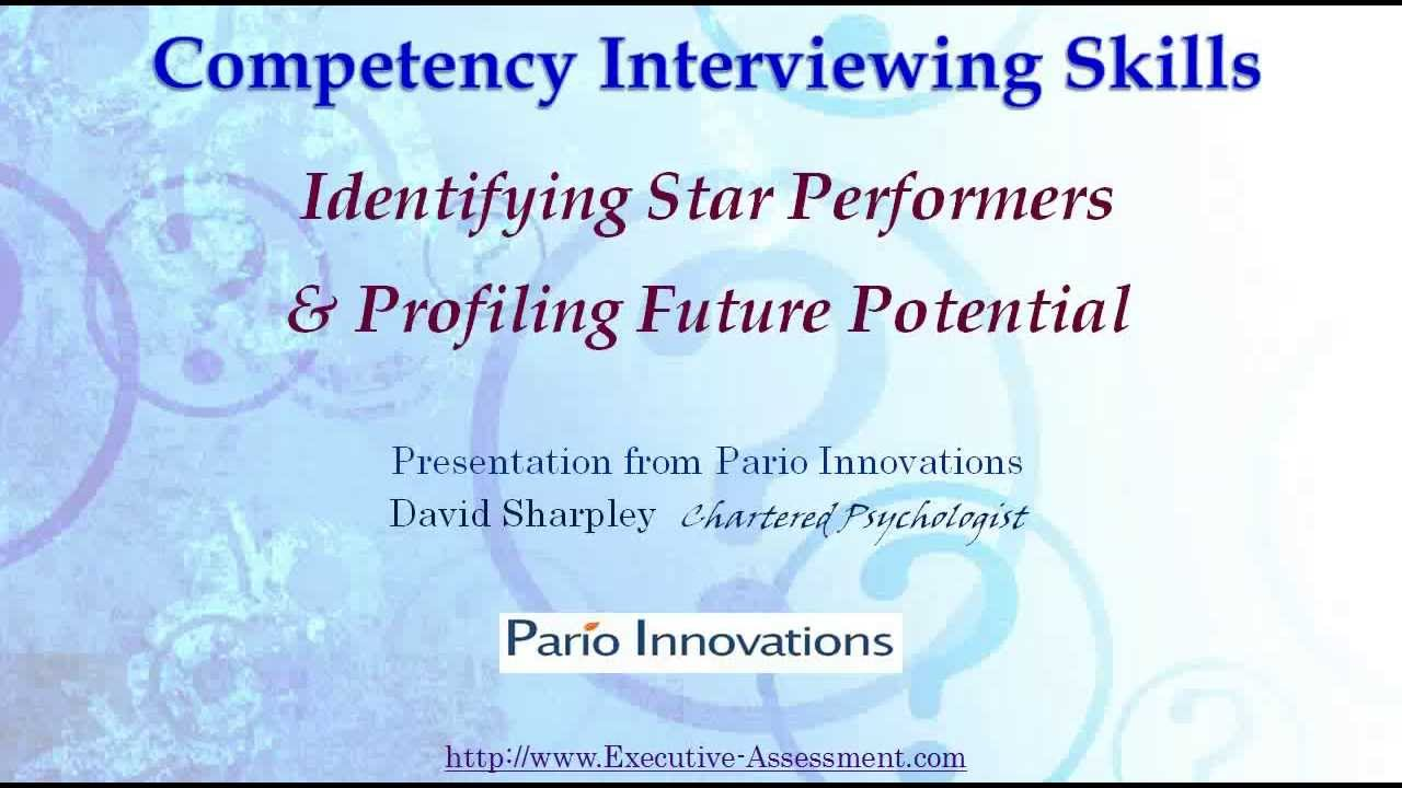 competency interviewing skills how to be a sucessful interviewer competency interviewing skills how to be a sucessful interviewer role profiling tool