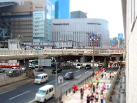 JR大阪駅前 ジオラマ動画 5倍速