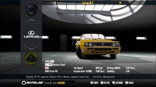 Need For Speed Shift 2 Unleashed Car list