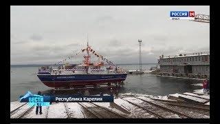 «Зеленые» технологии с заботой об экологии. В Карелии спустили на воду уникальный для России катер