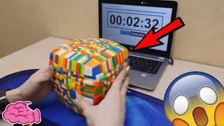 看這個人怎麼轉完這顆超大顆17X17魔術方塊 thumbnail