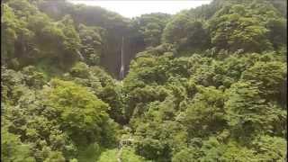 群馬県北群馬郡吉岡町の存在する船尾滝   DJ1 PHANTOMにて撮影