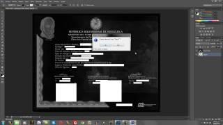 Fondo Negro del Titulo y Notas Certificadas Parte 1