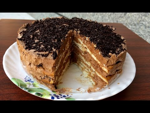 No Bake Chocolate Biscuit Cake | Kitchen Time With Neha