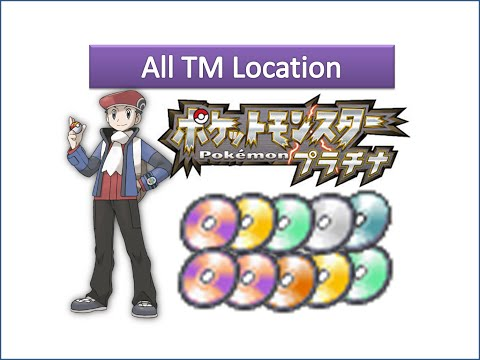 Pokemon Platinum - All TM Locations
