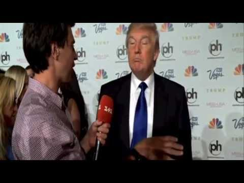 Vitalii Sediuk interviews Donald Trump - You are not Telemundo?!?