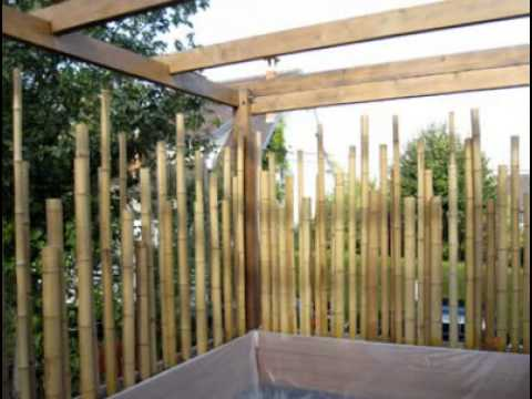 Cr ation d 39 une terrasse en bambou youtube - Construction d une terrasse ...