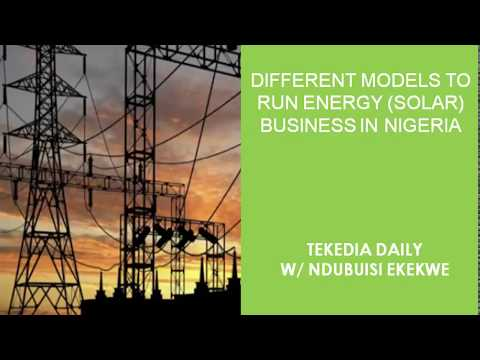 Different Business Models to run Energy (Solar) Business