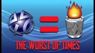 PSN Used to be Way Worse - The Great Playstation Network Outage of 2011