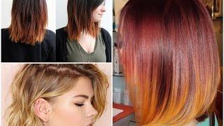 Окрашивание омбре на короткие волосы \ Short Ombre Hair Cuts(, 2015-06-07T15:35:49.000Z)