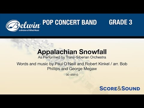 Appalachian Snowfall, arr. Bob Phillips and George Megaw – Score & Sound