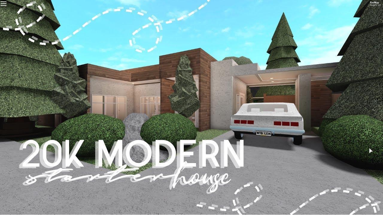 Roblox Bloxburg 20k Modern Home House Build Youtube