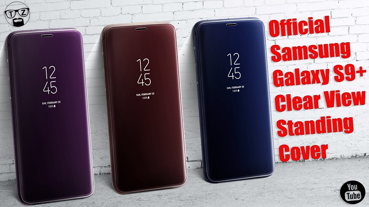 huge selection of 19c29 8506a Official Samsung Galaxy S9 Plus Clear View Standing Cover