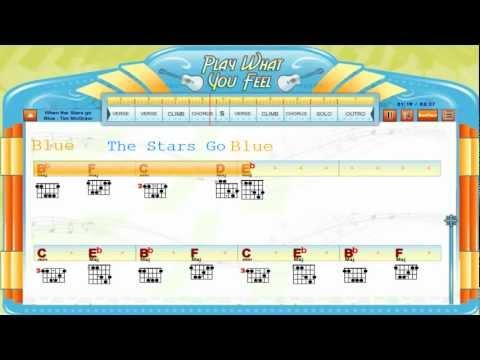 When The Stars Go Blue V2- Tim McGraw - Chords & Lyrics, Guitaraoke, Tabs - playwhatyoufeel.com