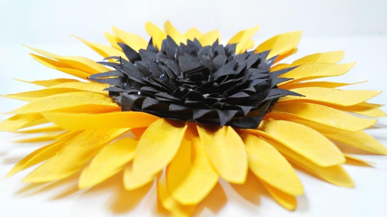Giant Paper Sunflower Tutorial Sunflower Tissue Paper Diy Diy Sunflower Paper Flower