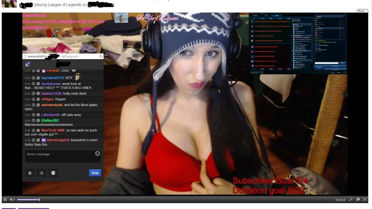 Naked on twitch