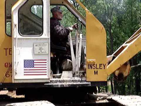 Crane Truck For Sale >> Insley Model M Levers - YouTube