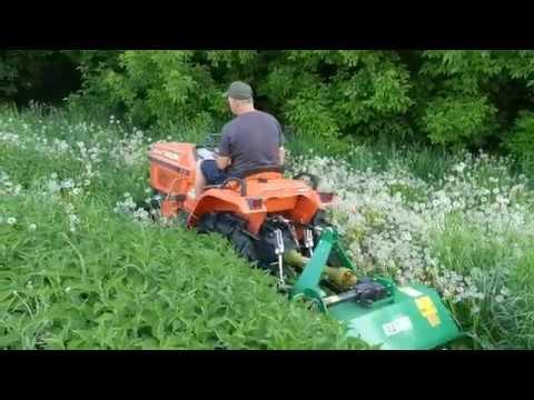 Kosiarka bijakowa (Mulczer) EFG GEO 105 Kubota B1-14. www.traktorki.waw.pl