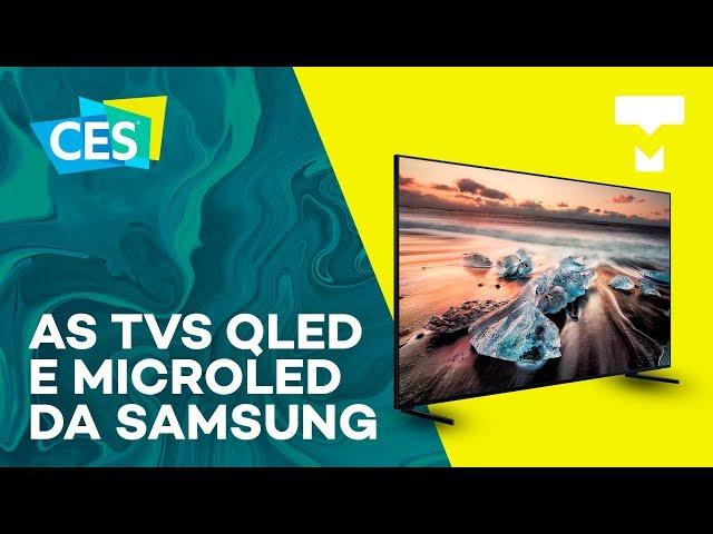As TVs QLED e Microled da Samsung - CES 2019 - TecMundo