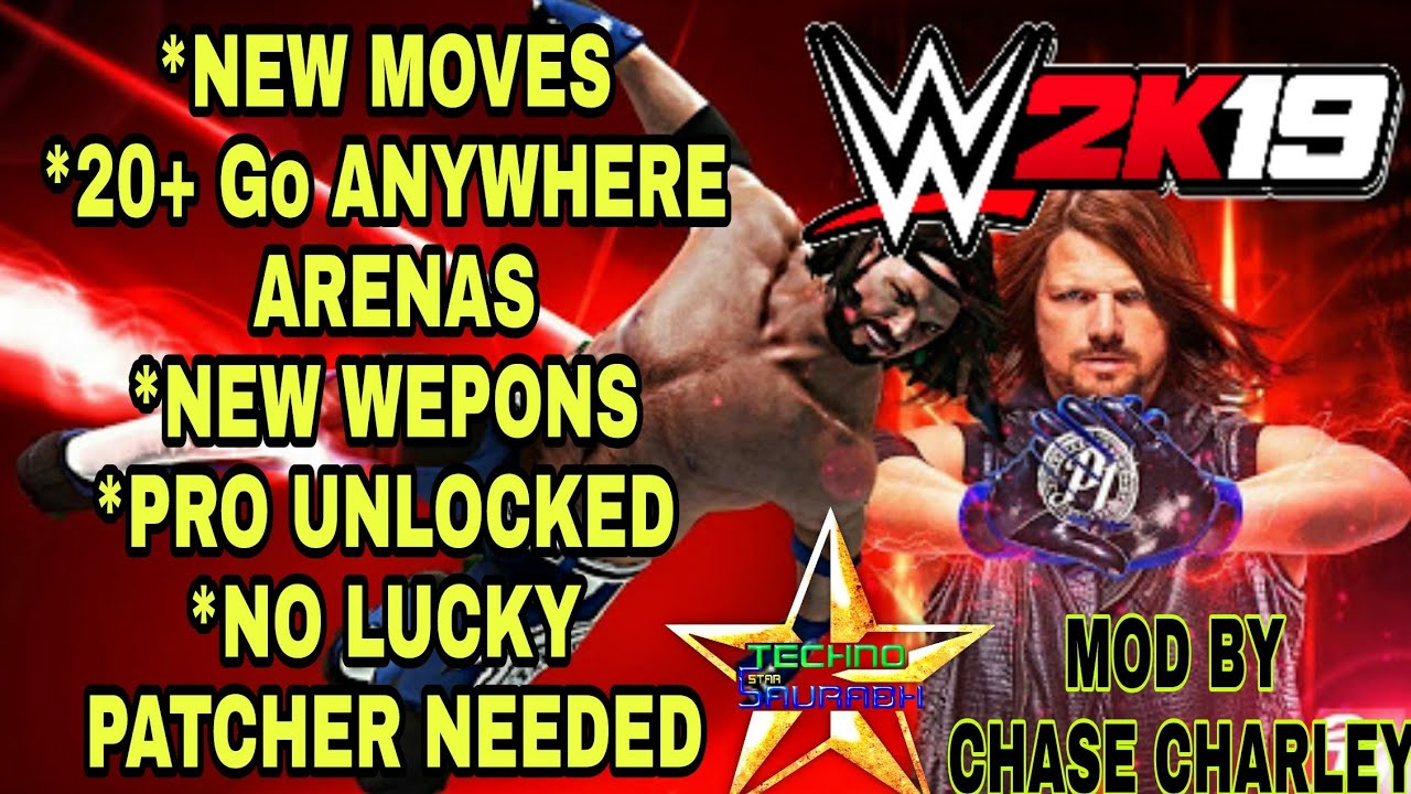 WR3D WWE 2K19 MOD   WR3D Attached Arena   New Moves   Go Anywhere