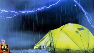 Thunderstorm Sounds | Rain on Tent | Thunder and Lightning with Relaxing Camping Ambience for Sleep