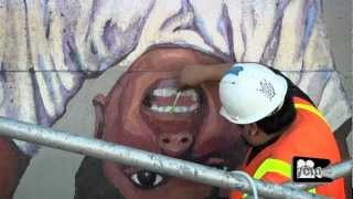 Los Angeles Olympic Murals (The Restoration of Glenna Avila's LA Freeway Kids)