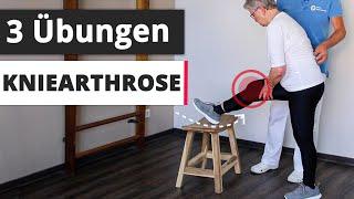 3 effektive Übungen bei Kniearthrose : Damit kannst du deine Beschwerden verbessern! (für zuhause)