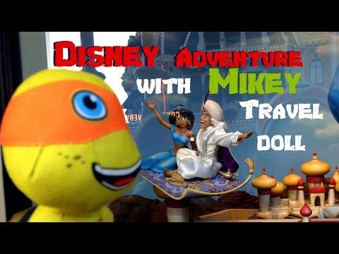 Ninja Turtles Disney World Adventure with Michelangelo TMNT travel doll