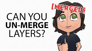 How to UNMERGE Layers - Digital Art Tutorial for Beginners